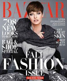 #Harpers-Bazaar Cover September 2014 #Linda Evangelista