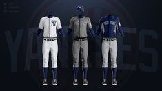 MLB Jerseys Redesigned on Behance Mlb Uniforms, Baseball Uniforms, Mlb Teams, New York Yankees, Chicago Cubs, Behance, Fictional Characters, Sport, Concept