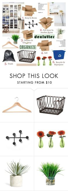 """""""Ddeclutter"""" by helenevlacho ❤ liked on Polyvore featuring interior, interiors, interior design, home, home decor, interior decorating, PERIGOT, Menu, Gerber and Allstate Floral"""