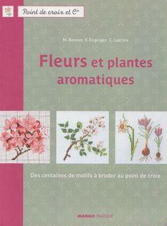 """Французская книга """"Цветочная вышивка"""". Вышивка крестом, схемы."""