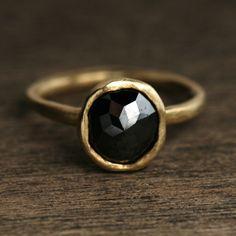 Black diamond ring  Yasuko azuma jewlery