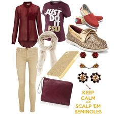 """Florida State Seminoles"" do it, but with ECU colors. Especially the sparkly sperrys"
