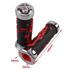 """Aliexpress.com : Buy Universal Chrome Red Flame Skull 7/8"""" 22mm Motorcycle Handlebar Hand Grips Anti Slip A Pair Cruiser Cycle from Reliable cycle taxi suppliers on Year-off store"""