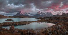 Torres del Paine. Патагония, Чили Национальный парк Торрес дель Пайне #патагония Автор: Сергей Алещенко