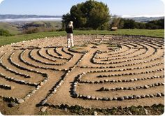 Connected to mind, body and soul: The winding pattern of any labyrinth represents the circulation of vital energies within our bodies. To traverse the labyrinth is to bring into one wholeness all parts of our being. Walking the labyrinth is thus a type of Yoga.