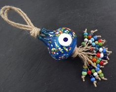 Bohemian Jewelry & Gifts with Ethnic Charm by NazarLuckDesign Stone Beads, Glass Beads, Evil Eye Pendant, Protecting Your Home, Wooden Beads, Pomegranate, Artisan, Etsy Seller, Wall Decor