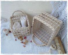 """Корзины, коробы ручной работы. Ярмарка Мастеров - ручная работа """"Шебби"""" Набор плетеных корзинок. Handmade."""