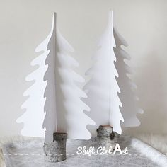 Beautiful Silhouette Christmas Trees Tutorial by Haley Pierson-Cox