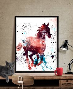 Horse Watercolor Print Horse Art Print Watercolor by FineArtCenter