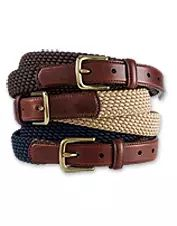 Our men's braided stretch cord belt offers comfort, durability, and casual style. Made in USA.