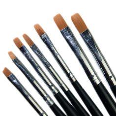 7 Pcs Acrylic UV Gel Nail Art False Tips Builder Drawing Painting Brush Pen set | eBay