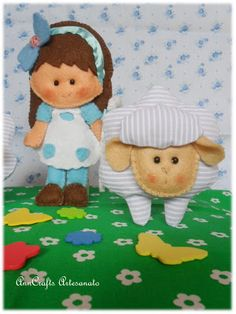 ♥ Here we tell stories in felt... Mary had a little lamb ♥