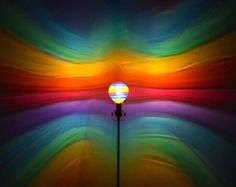 Hand-Painted Om Aum Rainbow Mood-Light Bulb 4 by MoodLights