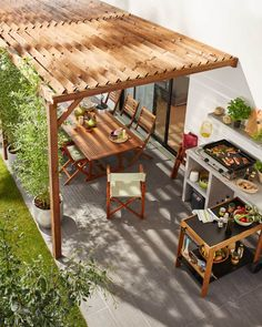 The pergola kits are the easiest and quickest way to build a garden pergola. There are lots of do it yourself pergola kits available to you so that anyone could easily put them together to construct a new structure at their backyard. Diy Pergola, Small Pergola, Modern Pergola, Pergola Canopy, Pergola Attached To House, Pergola With Roof, Cheap Pergola, Outdoor Pergola, Pergola Shade