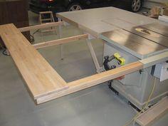 Folding; Sliding; Table Saw Extension Wing - by screwge @ LumberJocks.com ~ woodworking community