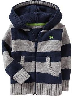 Hooded Zip-Front Sweater Cardis for Baby | Old Navy