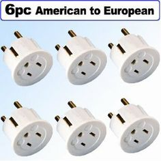Amazon.com: Heavy Duty Grounded USA American To European German Schuko Outlet Plug Adapter - 6 Pack: Electronics