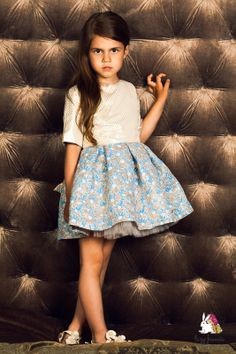 Shimmering jacquard dress for a any special occasion... birthday party or flower girl at the wedding - you will light up the room! Full tulle skirt gives the dress a fantastic shape and cotton lining makes it soft on the skin. #partydress #girlsfashion 100% Made in Europe.