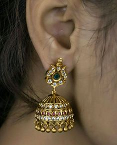 23 ideas jewerly making ideas step by step Gold Jhumka Earrings, Gold Earrings Designs, Gold Jewellery Design, Handmade Jewellery, Childrens Jewellery, Jhumka Designs, Gold Designs, Earrings Handmade, Gold Jewelry Simple