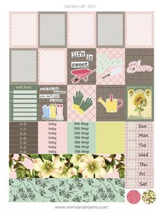 Are you all about the garden life? Do you have two green thumbs? Then grab my free printable planner stickers and show your green thumb in your planner! A