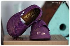 Purple Sparkle Baby TOMS