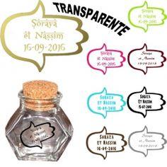 etiquettes drages autocollante transparente main fatma couleur personnalises mariage x22 - Etiquette Autocollante Personnalise Mariage