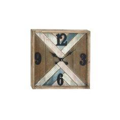 Cole & Grey Metal Wood Wall Clock
