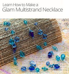 Learn how to bead a handmade illusion necklace. This jewelry lesson teaches you how to make a multi-strand necklace using crimp tubes and crystals.