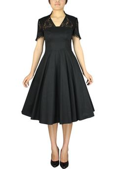 1940s Full Dress with Lace  by Amber Middaugh $49.95--  Save 37% at Chicstar.com Coupon: AMBER37