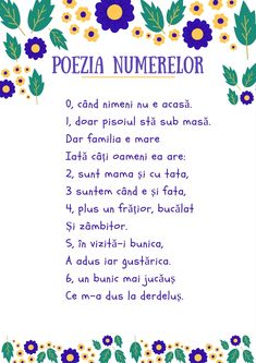 "#Parenting #educație #copii #descarcă #poezie #numarat #activitate  Descarcă livrabilul pentru activitate Poezia Numerelor si activitatea Numara cu buline  1. Ne jucăm și numărăm cu bulinele 2. Citim ""Poezia numerelor"" 3. Imprimăm PDF-ul ""Numără cu buline"" Motor Skills Activities, Teaching Activities, Toddler Activities, Solar System For Kids, Preschool Math, Kindergarten, Kids Poems, Finishing School, Teacher Supplies"