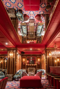 Froufrou, la belle époque du théâtre Édouard VII - The Socialite Family Restaurant Paris, Modern Restaurant, Paris Restaurants, Belle Epoque, Bar Interior, Restaurant Interior Design, Luxury Interior, Deco Baroque, Family Bar