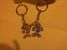 Portachiavi Minnie/Mickey Mouse di Gioielli fatati su DaWanda.com