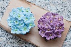 Hortensien Cupcakes