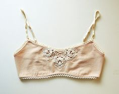 Fawn Pink Roses Organic Cotton Cami Bralette