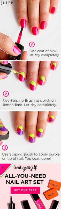 Nail designs are so cool! Get a FREE Nails design box from Julep here! Pin this so you have the steps for when you get your free box and see the post for EASY directions on how to get your free beauty samples!   http://couponcravings.com/free-womens-beauty-products-julep-nail-designs-box/