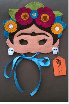 Classic. A felt Frida Kahlo mask. This is what Pinterest is TRULY for, Frida Mask by IratxeMapache on Etsy, €24.00