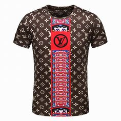 Louis Vuitton Short Sleeve Round Collar T Shirts Men T-shirt Louis Vuitton,  Col 14de620cc3f