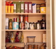 Kitchen Organizing Tip: Organize Food by Type & Frequency of Use Pantry Organization, Organizing, Kitchen Pantry, Kitchen Ideas, Getting Organized, Simple Way, Declutter, Storage Solutions, Liquor Cabinet