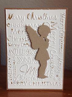 Weihnachtskarte mit Stanze Engel von Alexandra Renke