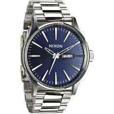 Improve your outfits with Nixon's Sentry SS Blue Sunray Watch