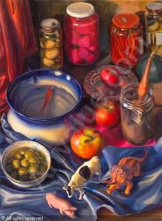 geraldine o'neill artist - Google Search Colouring, Colored Pencils, Fruit, Google Search, Painting, Colouring Pencils, Painting Art, Paintings, Painted Canvas