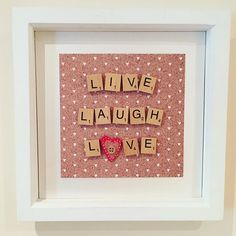 Our BRAND NEW quote in a frame, we have a variety of quotes for you to choose from, keep checking back for more coming over the next few days. We can change the background colour to your requirements, just message us for details. #quote #quoteinaframe #livelaughlove #instaquote #homemade #madewithlove #handmade #creative #feelingcreative #lovequotes #lifequotes #happy #instalike #like #follow #workfromhome #wallart #scrabble #scrabbleart #heart #lukh