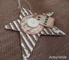Artsy VaVa: Christmas Gift Tags: so cute Recycled Christmas Gifts, Christmas Gift Tags, Christmas Holidays, Christmas Crafts, Christmas Decorations, Christmas Ornaments, Christmas Ideas, Xmas, Blue Christmas
