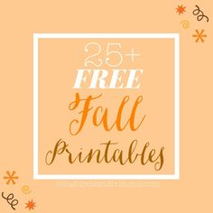 Love free printables? So do we! Here is a list of 25+ Fun and FREE printables that you can print off your home computer! So go ahead and re-stock that ink cartridge, because you're about do do some serious Fall printing Enjoy! Halloween: Point Cards and Bookmarks // One Creative Mommy Halloween Treat Toppers // …
