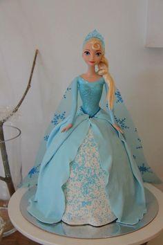 Frozen Elsa Dolly Varden Cake Elsa Birthday Cake, Frozen Birthday Party, Frozen Party, Geek Birthday, Elsa Frozen, Disney Frozen, Elsa Torte, Dolly Varden Cake, Barbie Cake