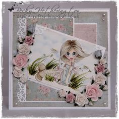 A divine card by one of my blog buddies Becky Hetherington. Fabulous colouring, beautiful papers and lovely layout.