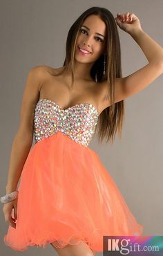 A-Line Sweetheart Chiffon and Beading Short Prom Dress