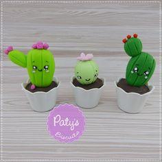 Família de Cactus Kawaii - Colecionáveis Mini Cult