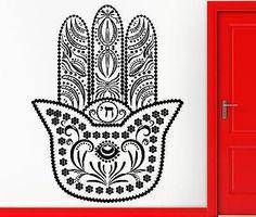 Wall Stickers Vinyl Decal Hamsa Amulet Talisman Good Luck Decor Unique Gift (z2370)