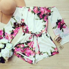 Rompers Womens Jumpsuit Fashion Lady Flower Floral Summer Bodysuit Woman on Luulla
